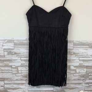Jack by BB Dakota Rowlands Soft Faux Suede Fringed